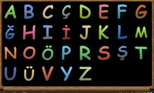 alfabe harflerin siralanisi