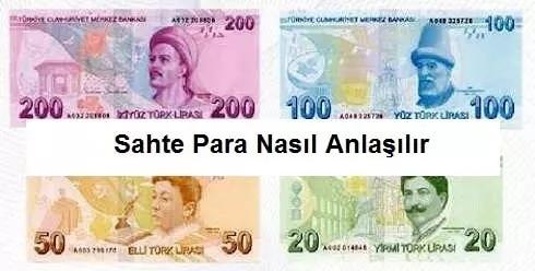 Paranın sahteliği nasıl anlaşılır